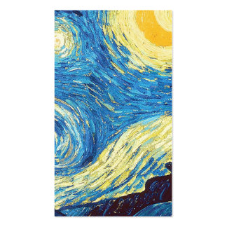 Starry Night Vincent Van Gogh simple white part 4 Business Card