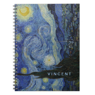 Starry Night Vincent van Gogh Spiral Notebook