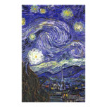 Starry Night, Vincent Van Gogh. Customized Stationery