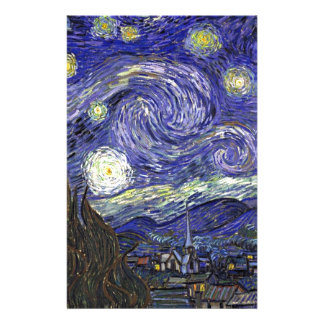Starry Night, Vincent Van Gogh. Stationery