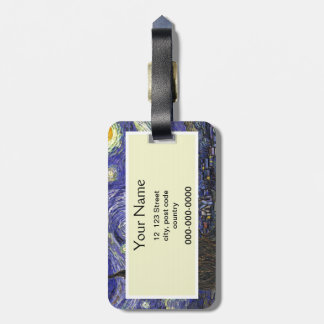 Starry Night, Vincent Van Gogh. Tag For Luggage