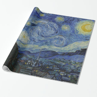 Starry Night Vincent van Gogh Wrapping Paper