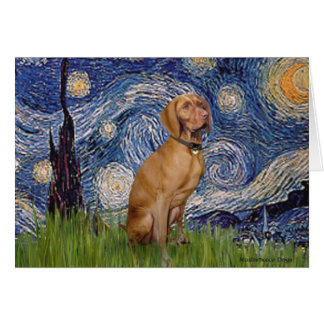 Starry Night - -Viszla 2 Greeting Card