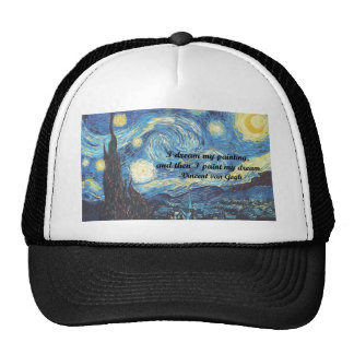 Starry Night w/ I Paint My Dream Quote Trucker Hat