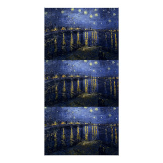Starry Night Water Ships Boat Gogh Vintage Destiny Poster