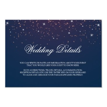 Wedding Themed Starry Night Wedding Details Enclosure Card