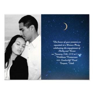 Starry Night Wedding Engagement Card