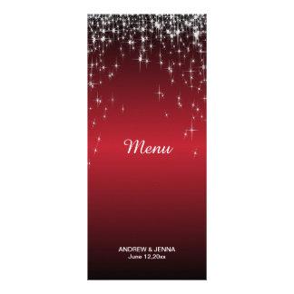 Starry Night Wedding in a Romantic Dark Red Rack Card