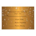 Starry Night Wedding in Color | Metallic Dark Gold Card