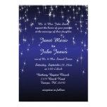 Starry Night Wedding in Dark Blue Card