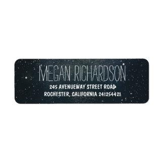 Starry night wedding label