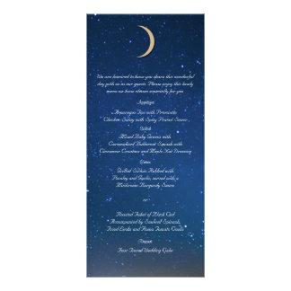 Starry Night Wedding Menu