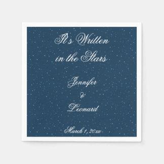Starry Night Wedding Napkins