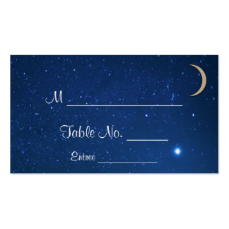 Starry Night Wedding Place Cards Double-Sided Standard Business Cards (Pack Of 100)
