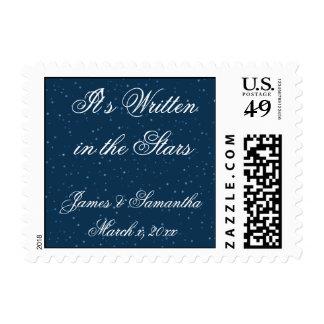 Starry Night Wedding Postage Stamp