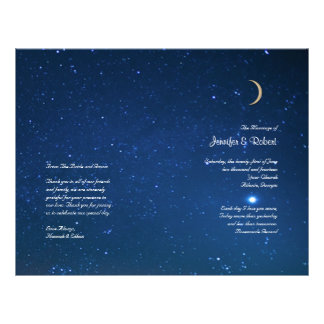 Starry Night Wedding Program Full Color Flyer