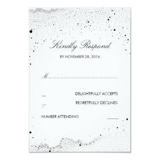 Starry Night Wedding RSVP Card