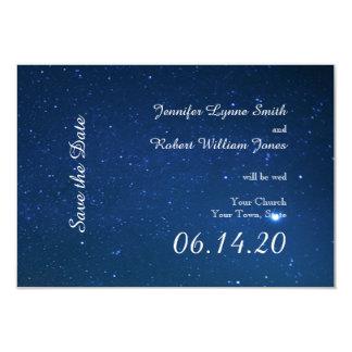 Starry Night Wedding Save the Date Invite