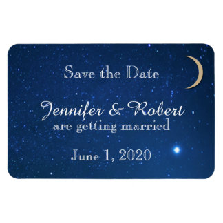 Starry Night Wedding Save the Date Flexible Magnets