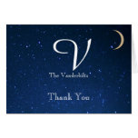 Starry Night Wedding Thank You Greeting Cards