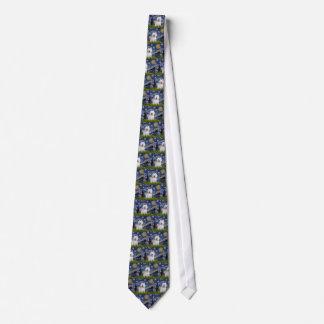 Starry Night - Westie 2 Neck Tie