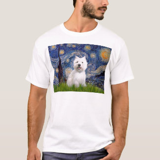 Starry Night - Westie 2 T-Shirt