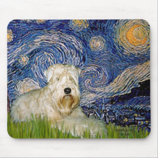 Starry Night - Wheaten Terrier 1 Mouse Pad
