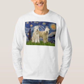 Starry Night - Wheaten Terriers (two) T-shirt