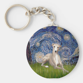 Starry Night - Whippet #2 Keychain