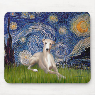 Starry Night - Whippet #2 Mouse Pad