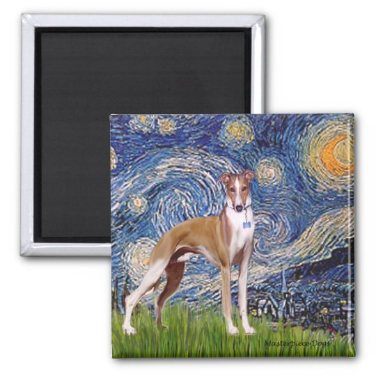 Starry Night - Whippet (stand) Magnet
