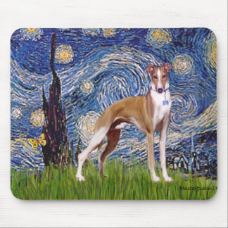 Starry Night - Whippet (stand) Mouse Pad