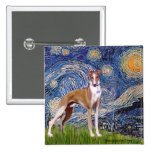 Starry Night - Whippet (stand) Pinback Button