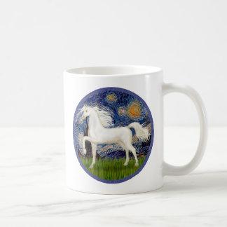 Starry Night - White ArabianHorse Coffee Mug
