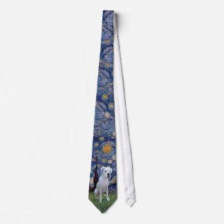 Starry Night - White Boxer Neck Tie