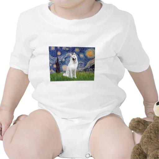 Starry Night - White German Shepherd T-shirts