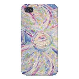 Starry Night White Light Angel iPhone 4 Case