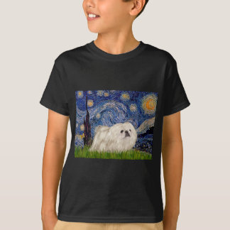 Starry Night - White Pekingese 4 T-Shirt