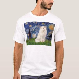 Starry Night - White Persian cat T-Shirt