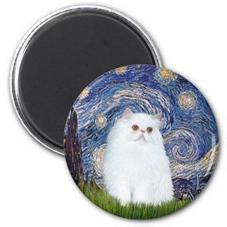 Starry Night - White Persian kitten Magnet
