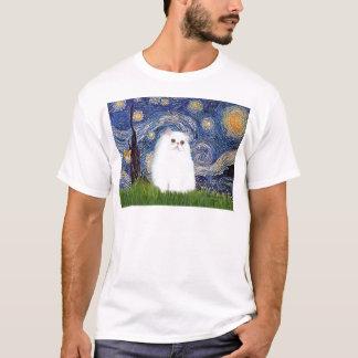 Starry Night - White Persian kitten T-Shirt