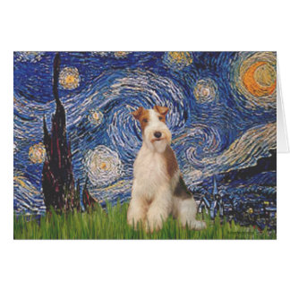 Starry Night - Wire Fox Terrier 3 Card