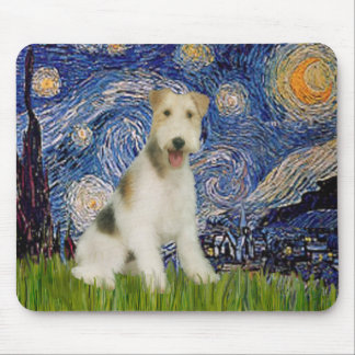 Starry Night - Wire Fox Terrier (M) Mouse Pad
