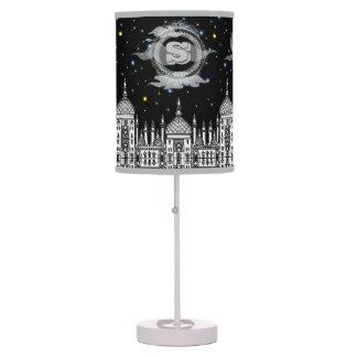 Starry Nights Monogram Designer Lamp