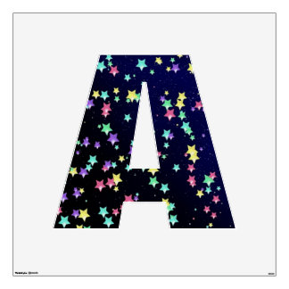 Starry Nights Wall Decal Alphabet A Large