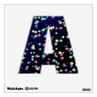 Starry Nights Wall Decal Alphabet A Small