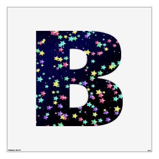 Starry Nights Wall Decal letter B-Large