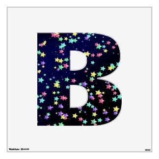 Starry Nights Wall Decal letter B-medium