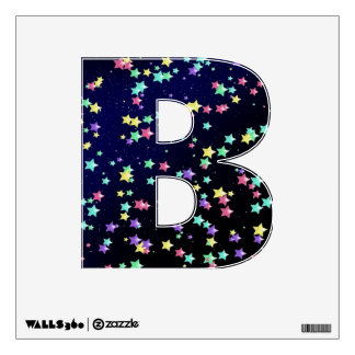 Starry Nights Wall Decal letter B-small