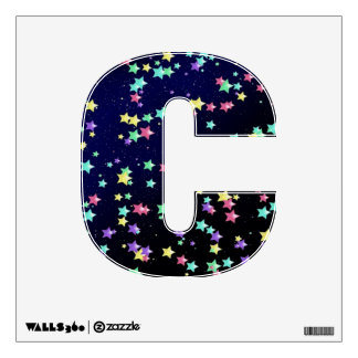 Starry Nights Wall Decal letter C-small